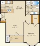 A 713 sq. ft.